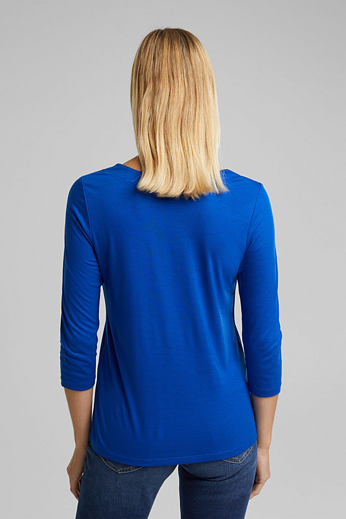 Long sleeve top made of 100% lyocell, BRIGHT BLUE, detail image number 3