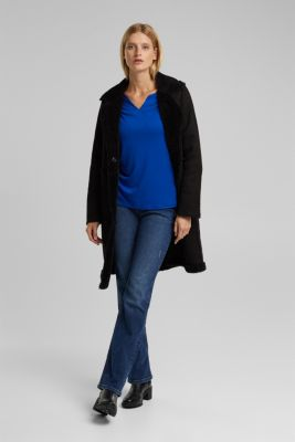 Long sleeve top made of 100% lyocell, BRIGHT BLUE, detail