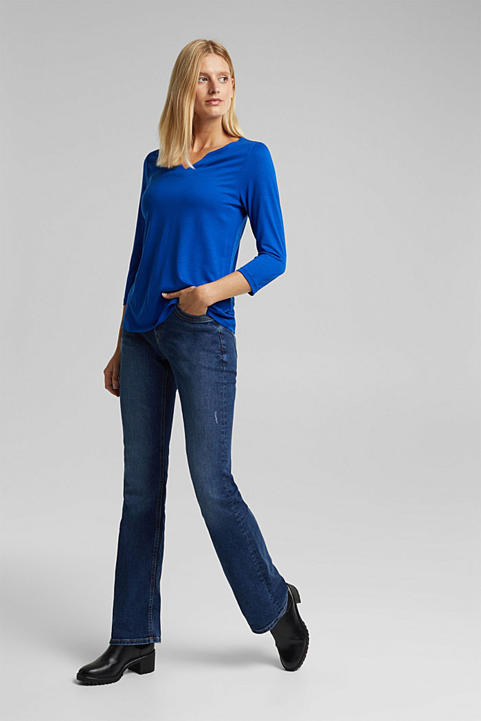 Long sleeve top made of 100% lyocell, BRIGHT BLUE, detail image number 6