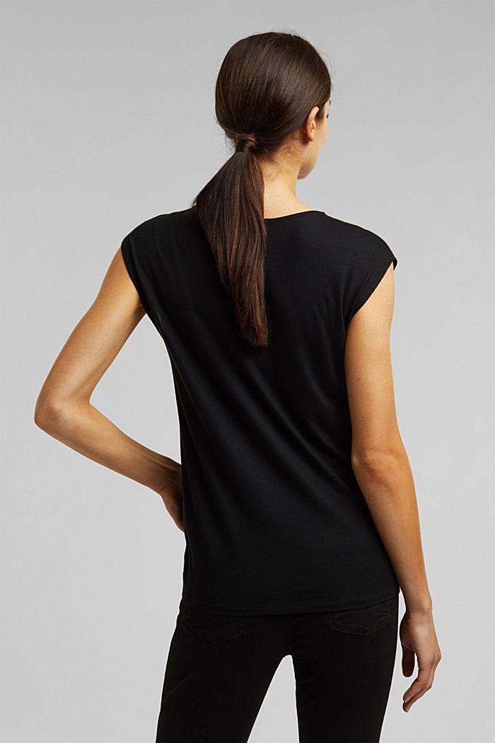 T-shirt made of LENZING™ ECOVERO™, BLACK, detail image number 3