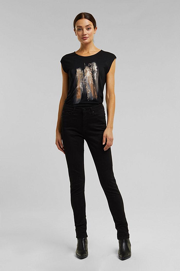 T-shirt made of LENZING™ ECOVERO™, BLACK, detail image number 1