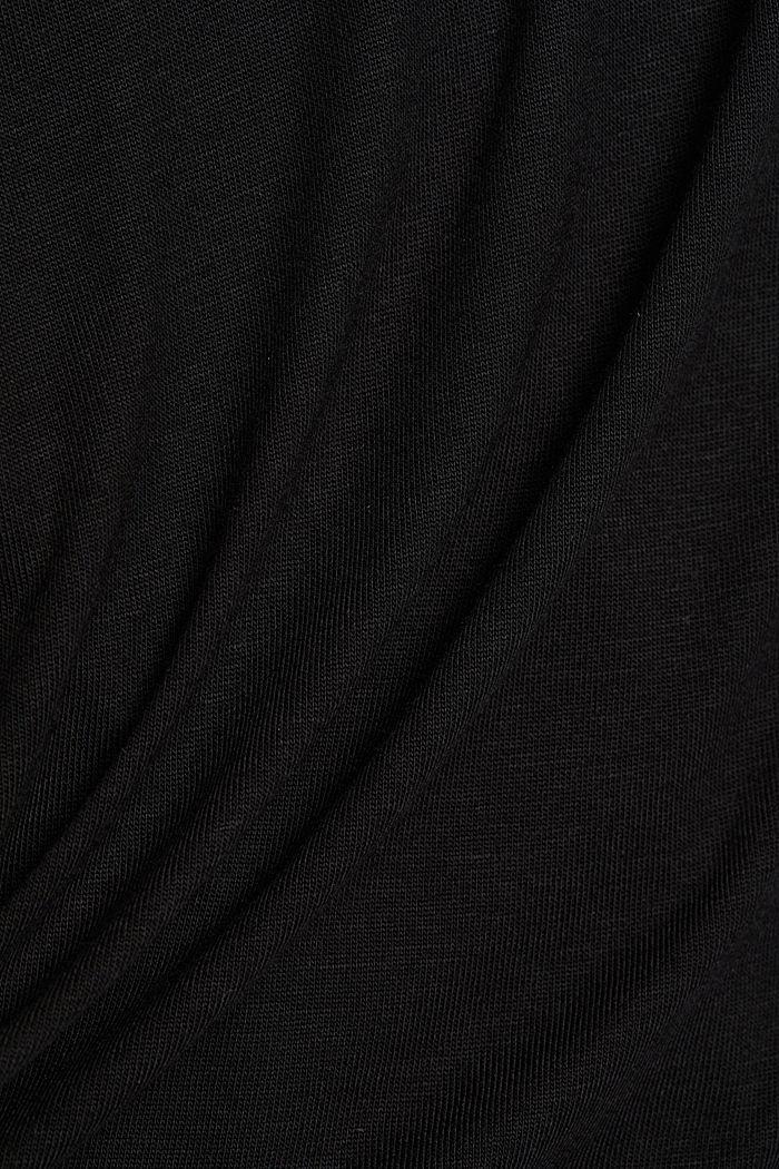 T-shirt made of LENZING™ ECOVERO™, BLACK, detail image number 4