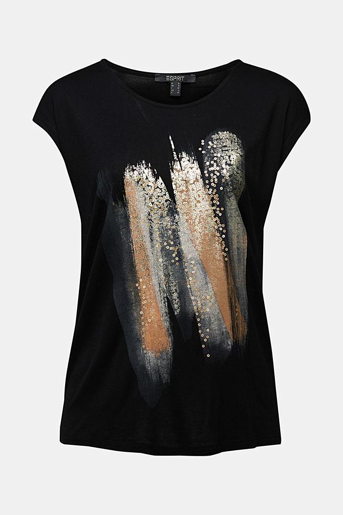 T-shirt made of LENZING™ ECOVERO™, BLACK, detail image number 5