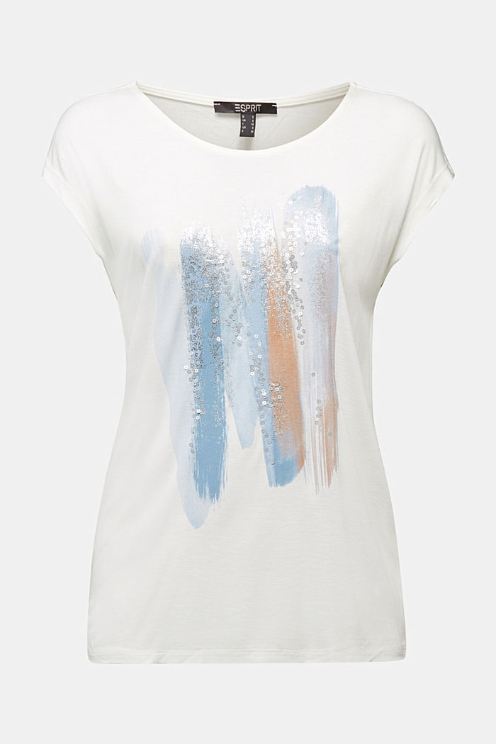 T-shirt made of LENZING™ ECOVERO™, OFF WHITE, detail image number 5