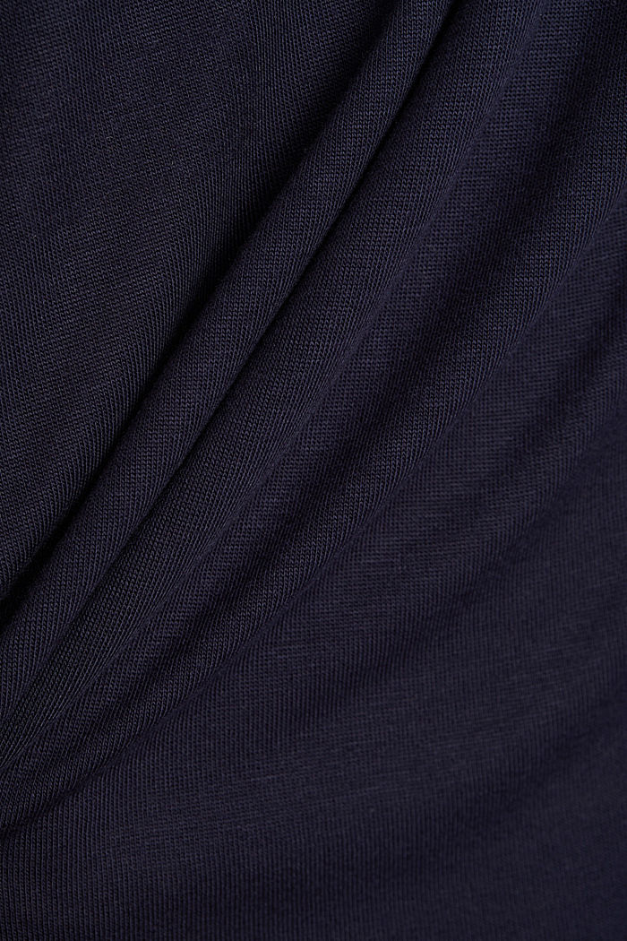 T-shirt made of LENZING™ ECOVERO™, NAVY, detail image number 4