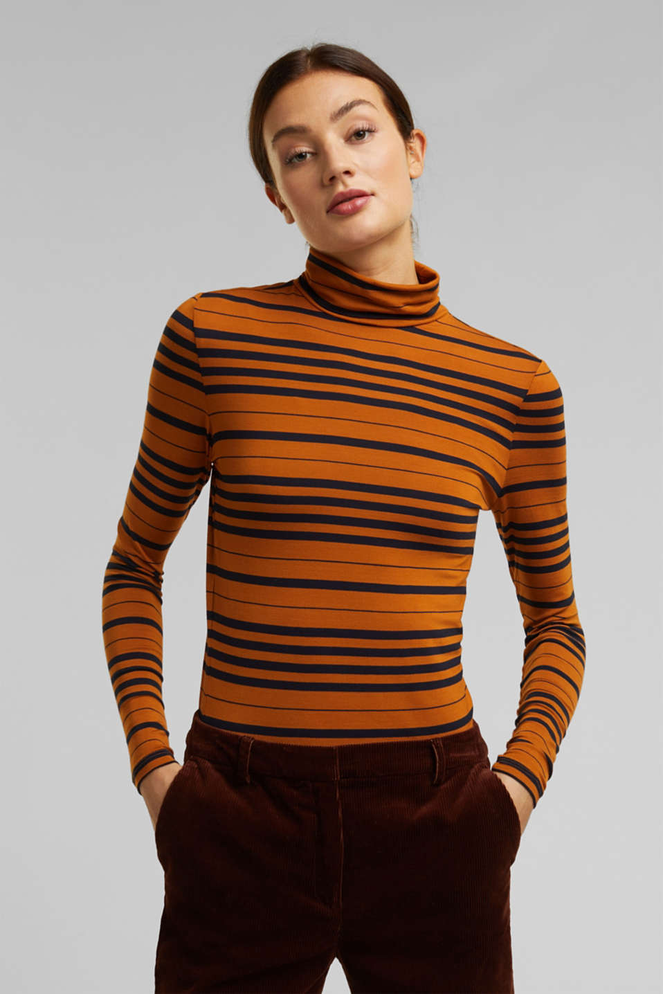 Esprit - Jersey long sleeve top with stripes