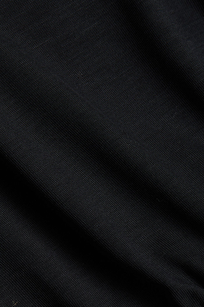 Long sleeve top made of 100% lyocell, BLACK, detail image number 4