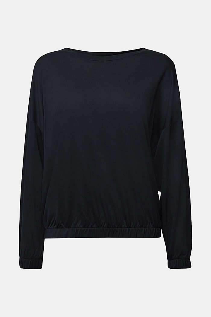 Long sleeve top made of 100% lyocell