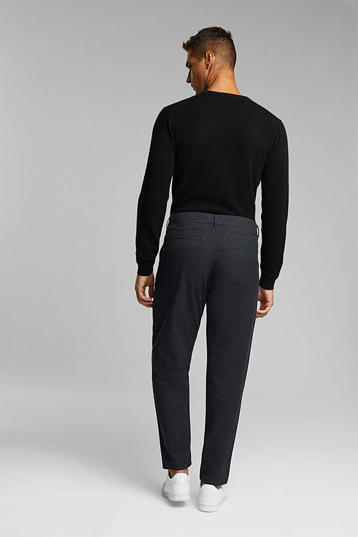 SPORTY CROPPED: trousers containing organic cotton, ANTHRACITE, detail image number 3