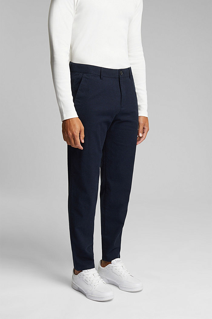SPORTY CROPPED: trousers containing organic cotton, DARK BLUE, detail image number 0