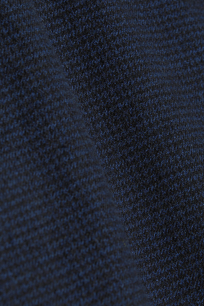 SPORTY CROPPED: trousers containing organic cotton, DARK BLUE, detail image number 4