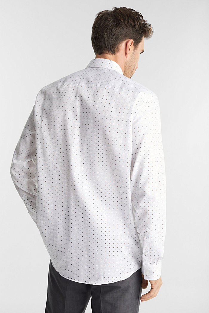 Printed shirt in 100% cotton, WHITE, detail image number 3