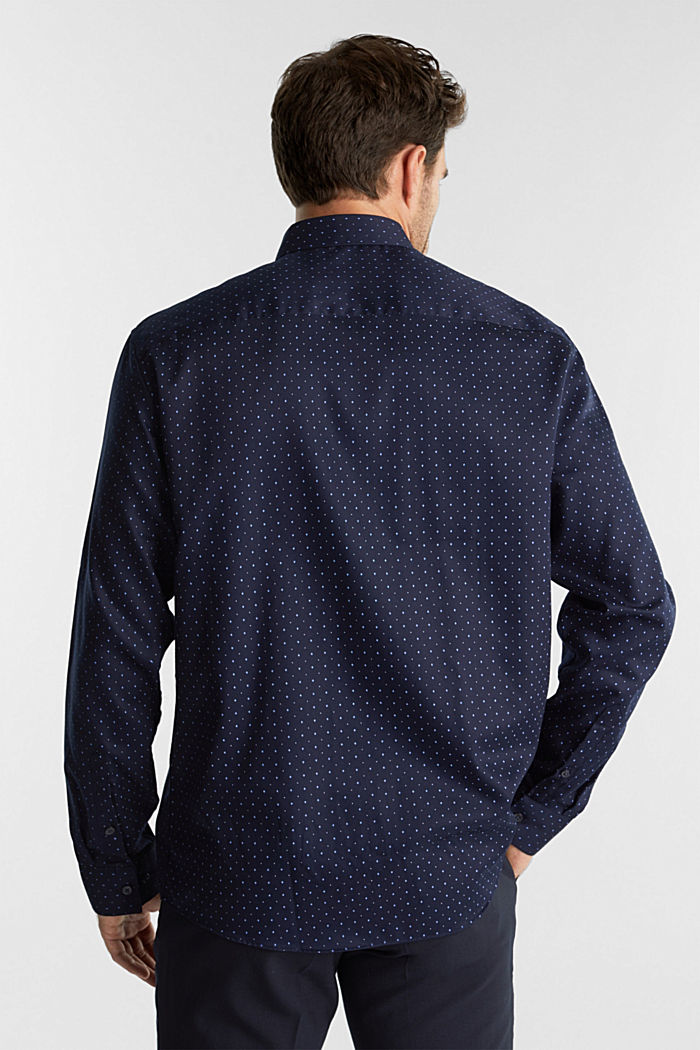 Printed shirt in 100% cotton, NAVY, detail image number 3