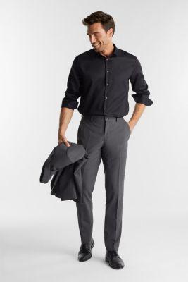 Shirt with a diamond texture, 100% cotton, BLACK, detail