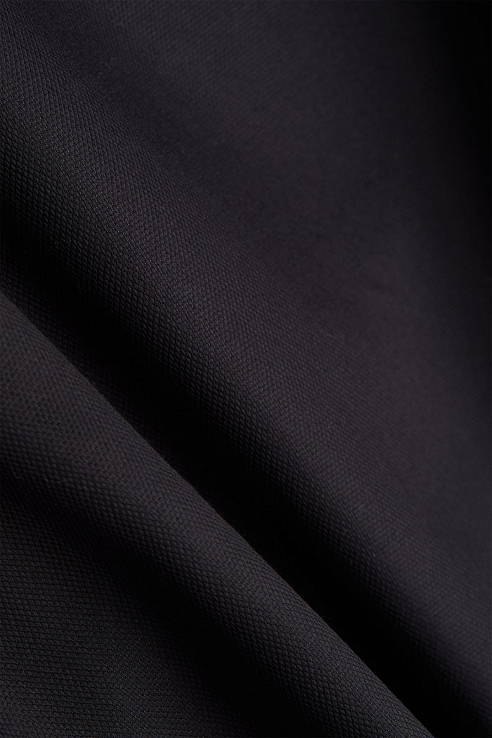 Shirt with a diamond texture, 100% cotton, BLACK, detail image number 4