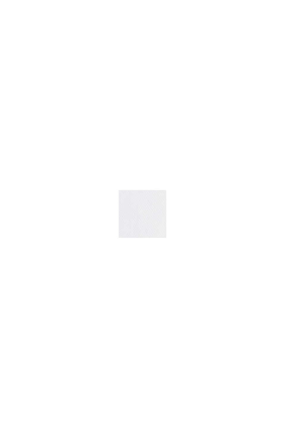 Hemd mit Diamant-Struktur, 100% Baumwolle, WHITE, swatch