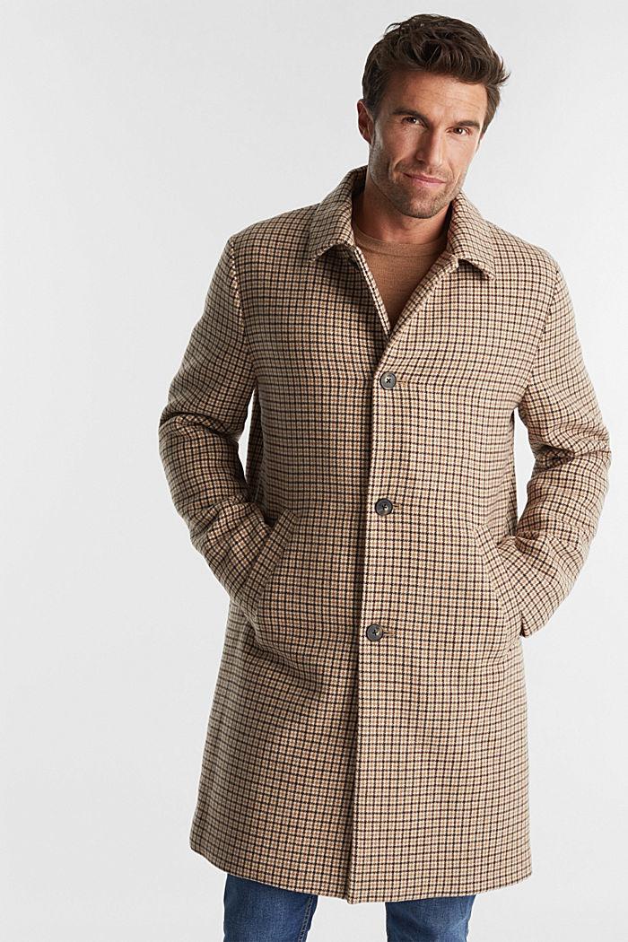 Manteau premium en laine mélangée