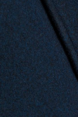 Made of blended wool: Coat with an adjustable hood, DARK BLUE 5, detail