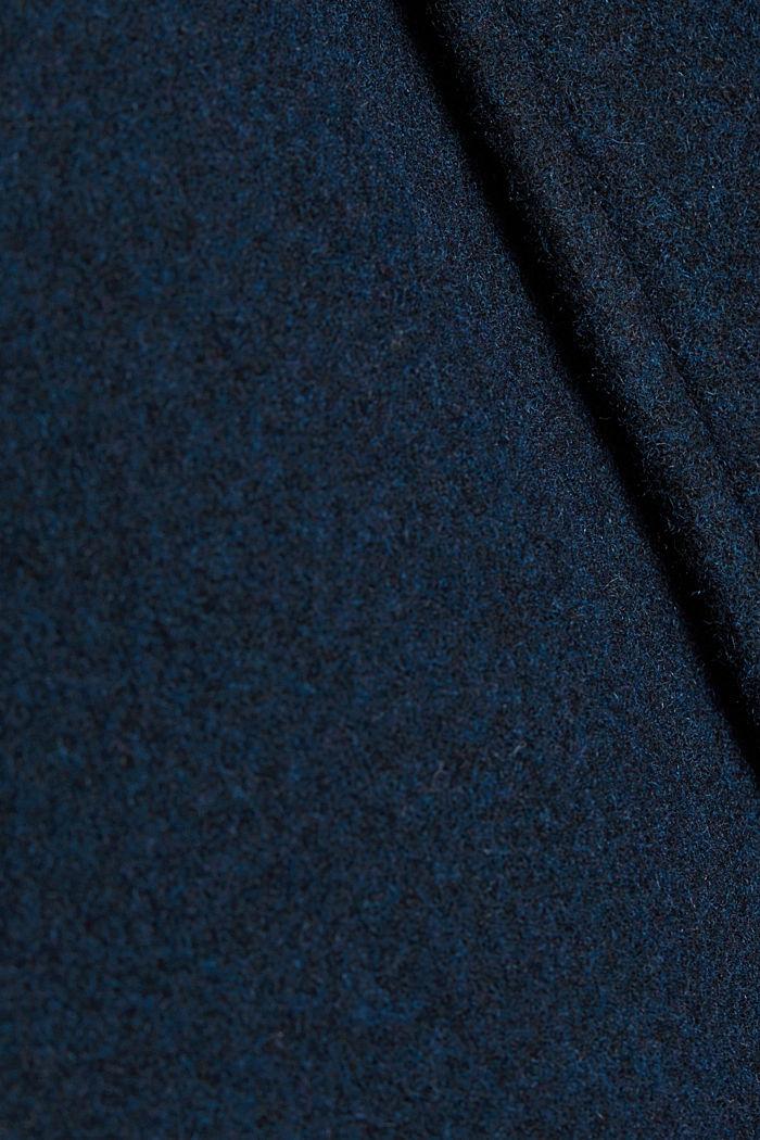 Aus Woll-Mix: Mantel mit variabler Kapuze, DARK BLUE, detail image number 4