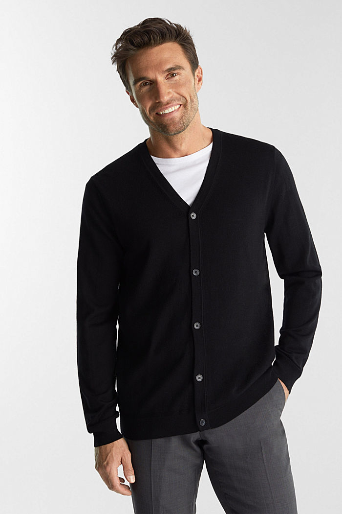 Cardigan made of 100% merino wool