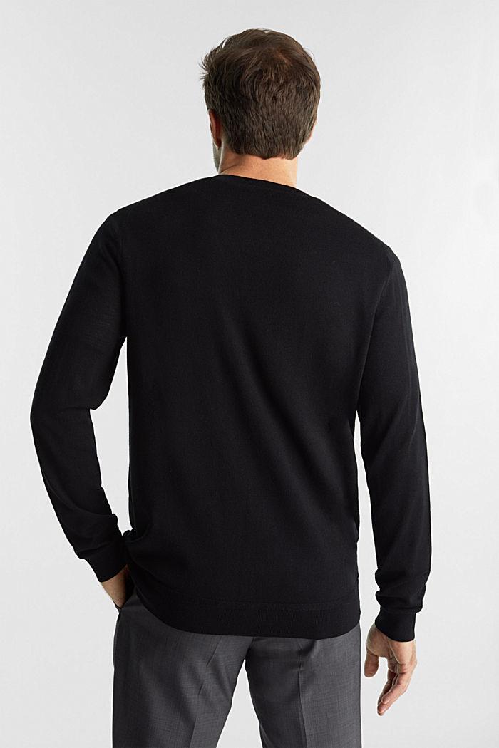 Cardigan made of 100% merino wool, BLACK, detail image number 3