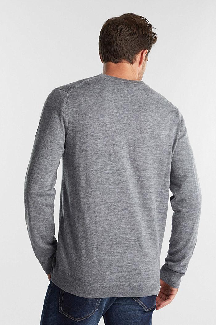 Cardigan made of 100% merino wool, GREY, detail image number 3
