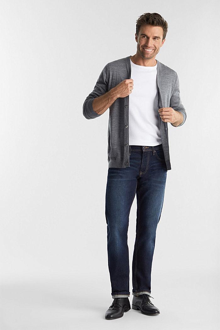 Cardigan made of 100% merino wool, GREY, detail image number 1