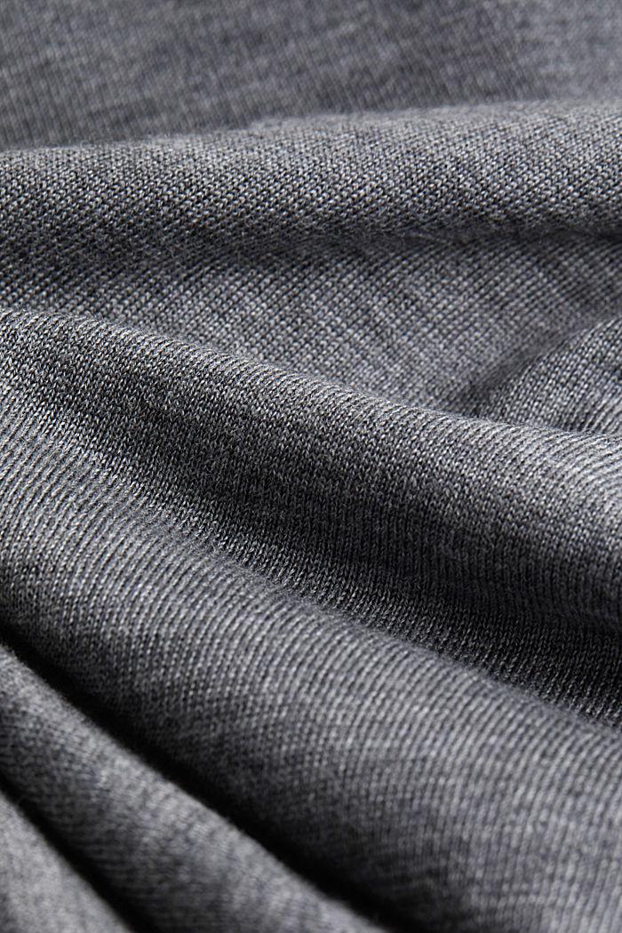 Cardigan made of 100% merino wool, GREY, detail image number 4