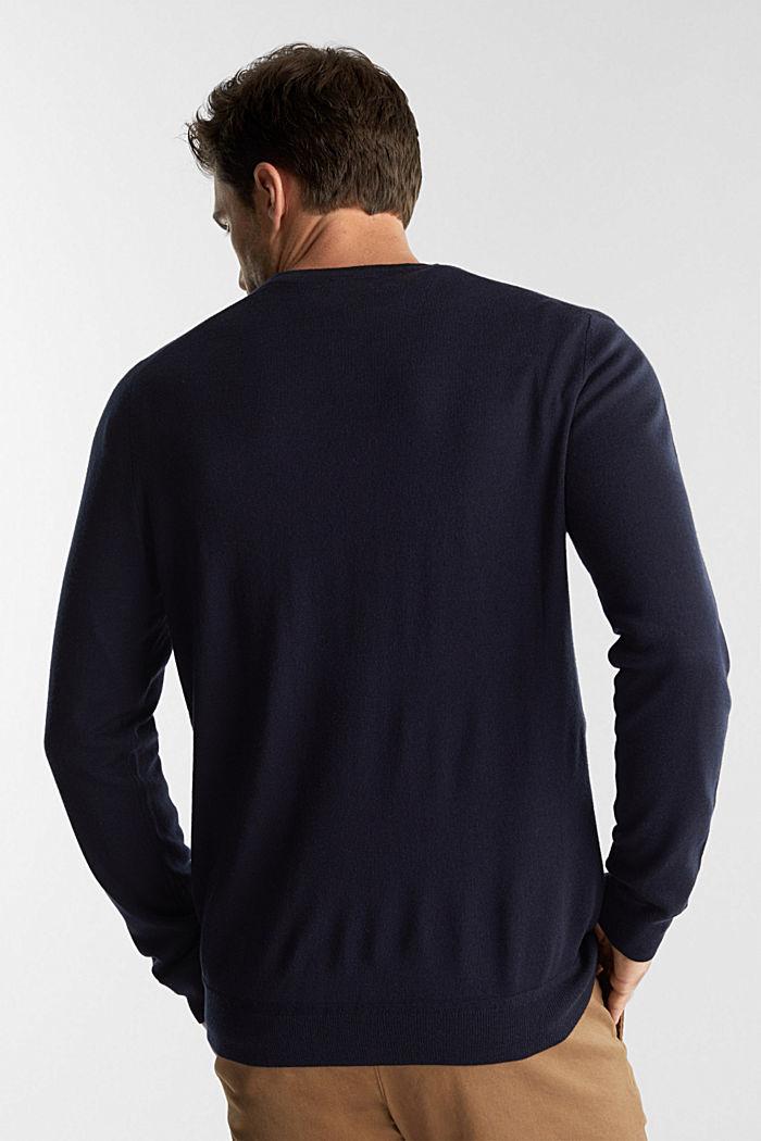 Cardigan made of 100% merino wool, NAVY, detail image number 3