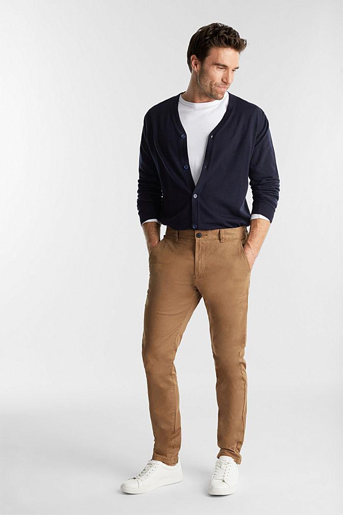 Cardigan made of 100% merino wool, NAVY, detail image number 1