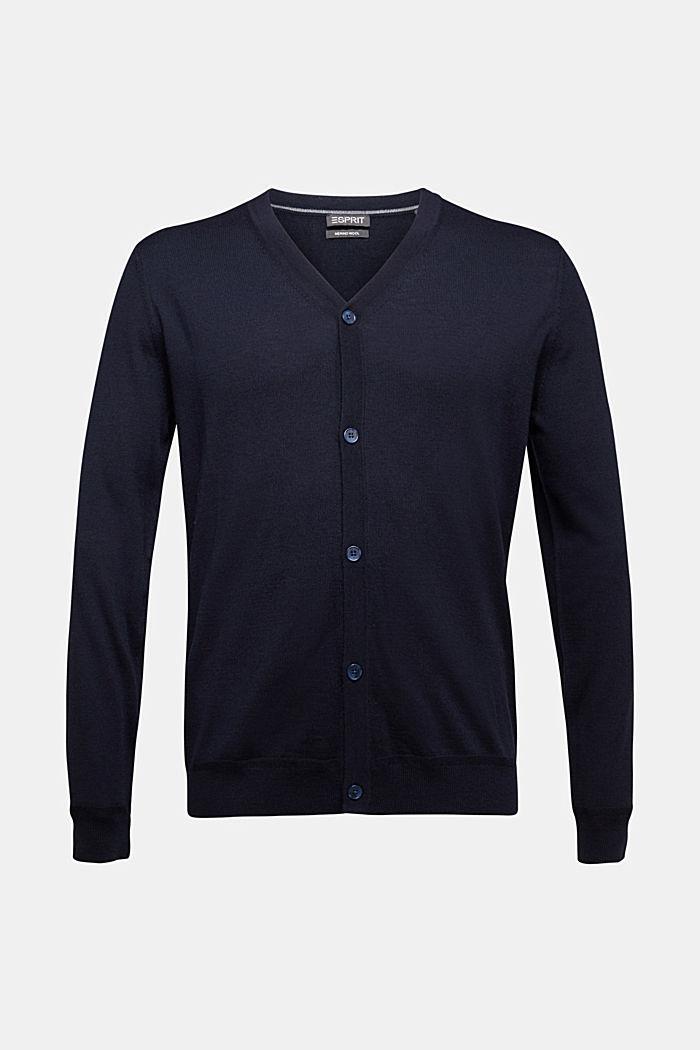 Cardigan made of 100% merino wool, NAVY, detail image number 5