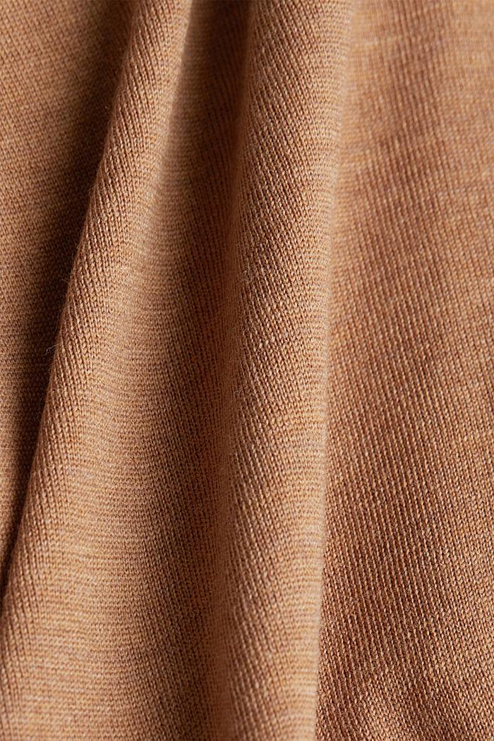 100% merino wool: Colour block jumper, NAVY, detail image number 4