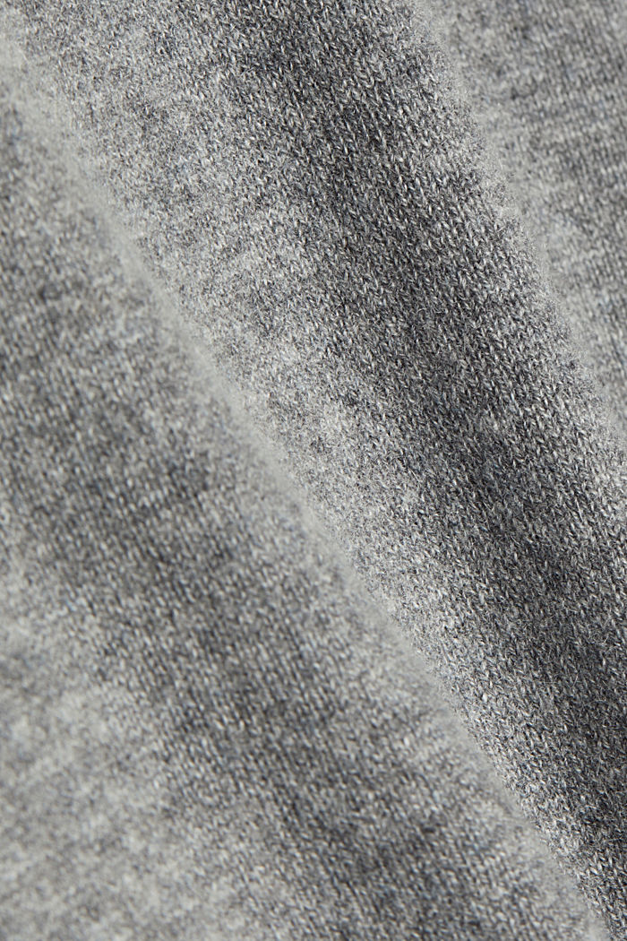 With cashmere: jumper with a round neckline, GREY, detail image number 4