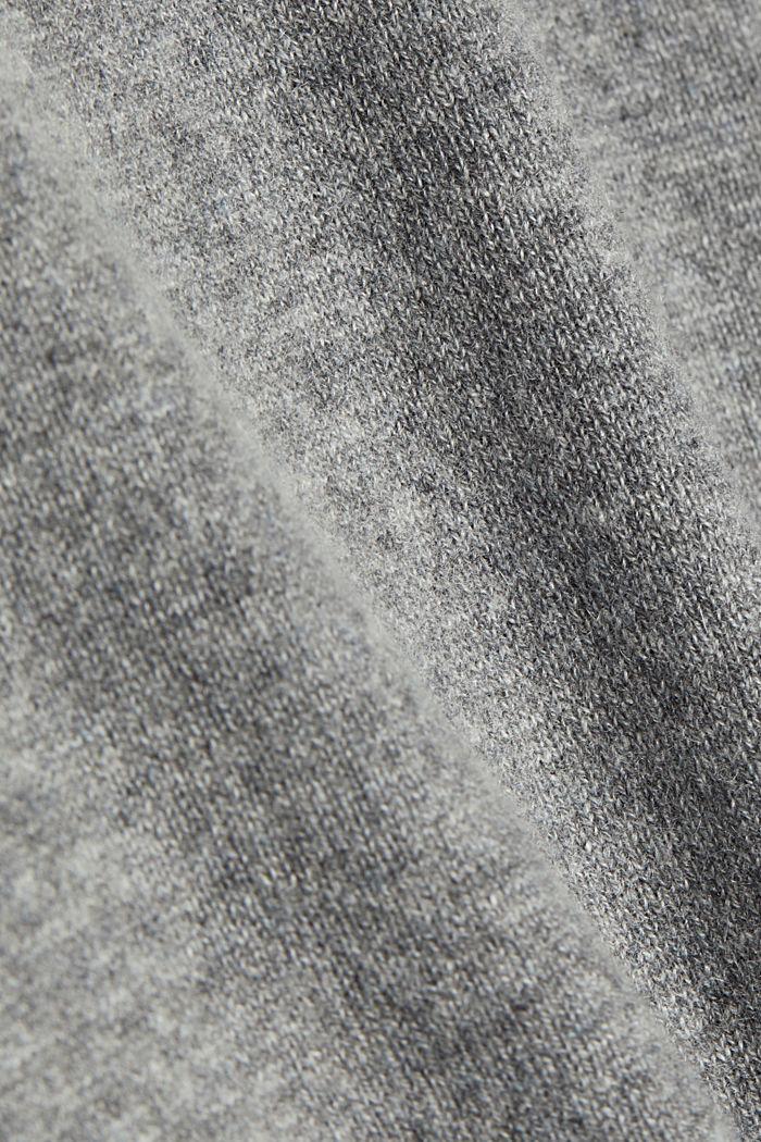Mit Kaschmir: Pullover mit Rundhals, GREY, detail image number 4