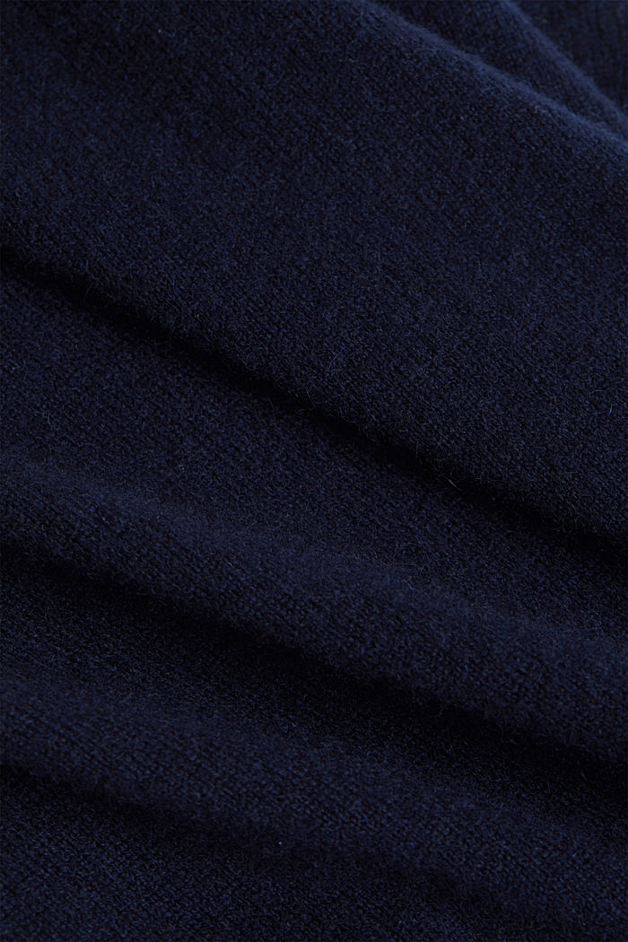 With cashmere: jumper with a round neckline, NAVY, detail image number 4