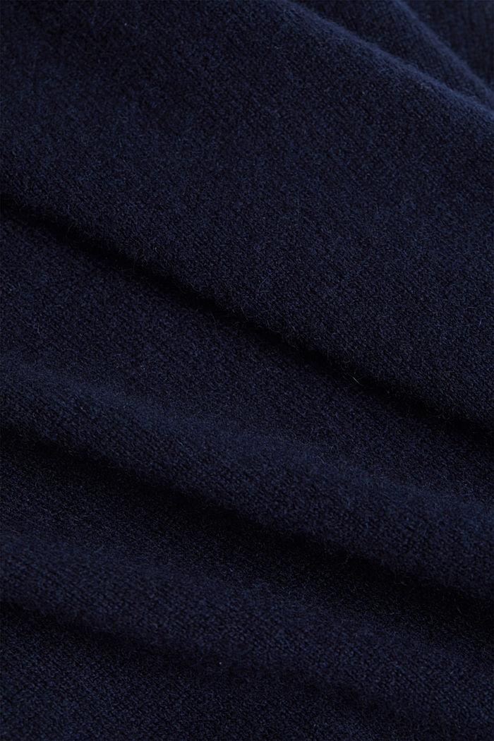 Mit Kaschmir: Pullover mit Rundhals, NAVY, detail image number 4