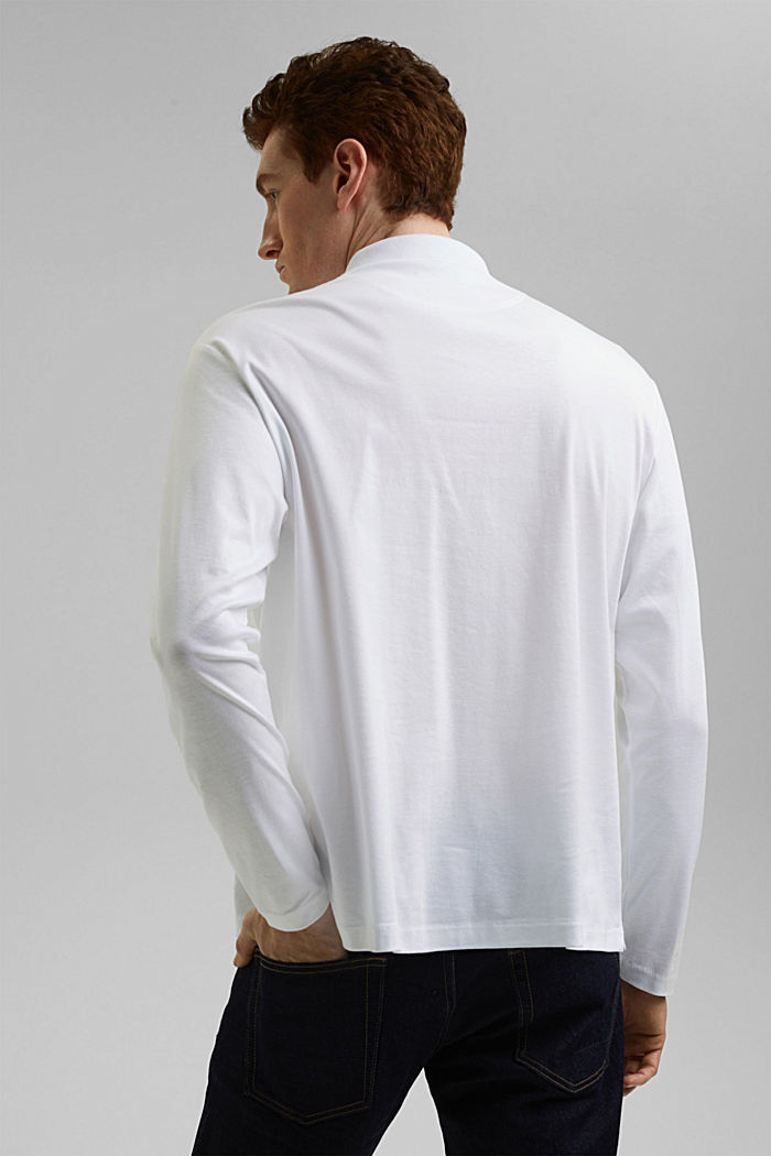 Jersey polo shirt made of 100% organic cotton, WHITE, detail image number 3