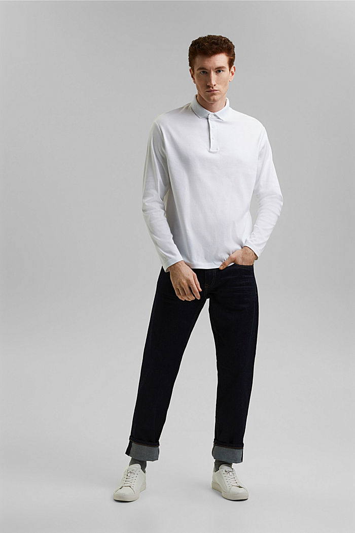 Jersey polo shirt made of 100% organic cotton, WHITE, detail image number 4