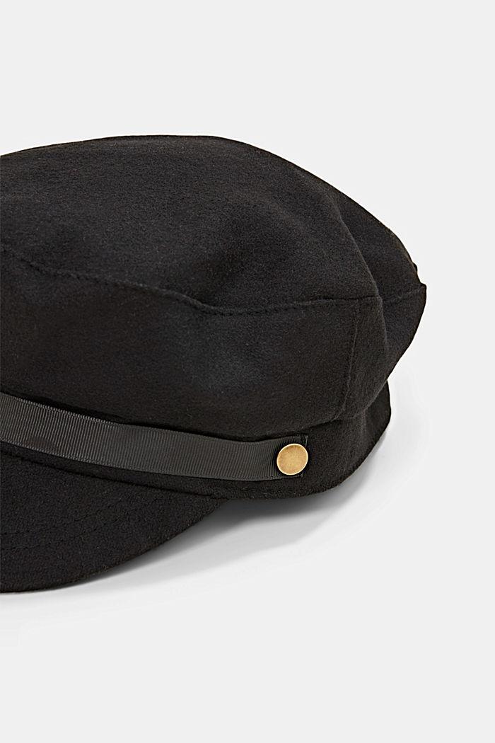 Schiffermütze aus Filz, BLACK, detail image number 1