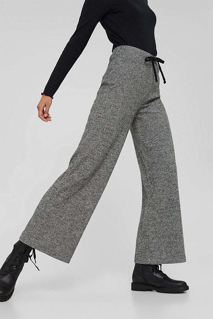 Pants knitted, ANTHRACITE, detail image number 0