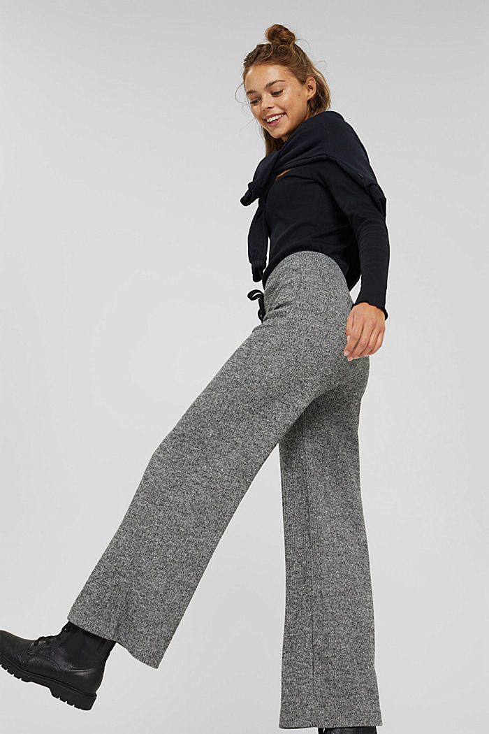 Pants knitted, ANTHRACITE, detail image number 6