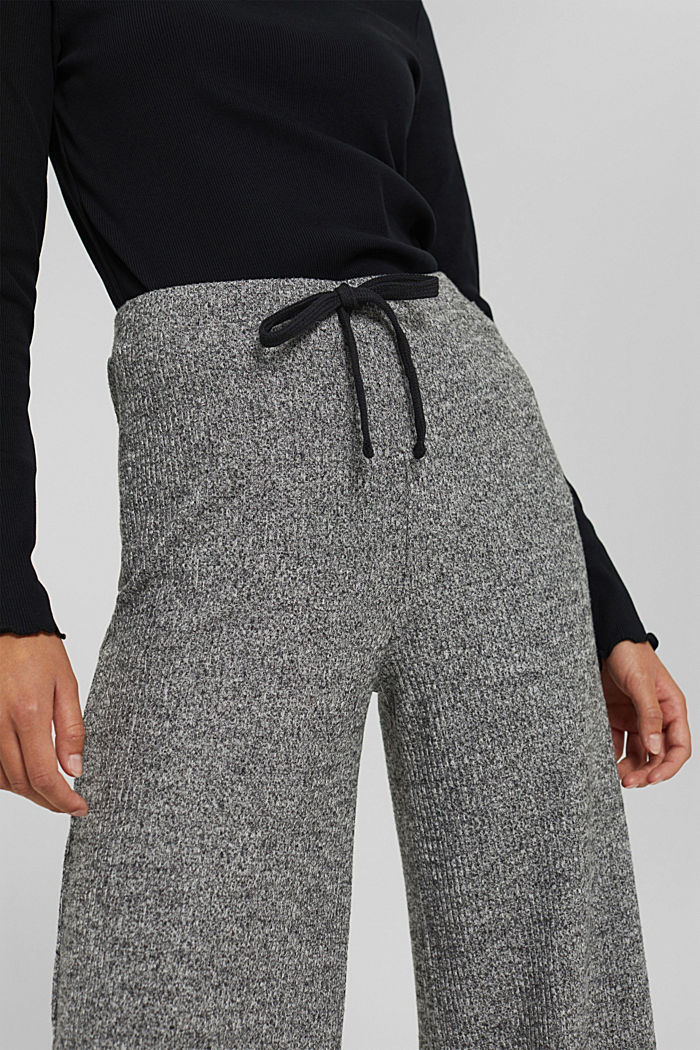 Pants knitted, ANTHRACITE, detail image number 2