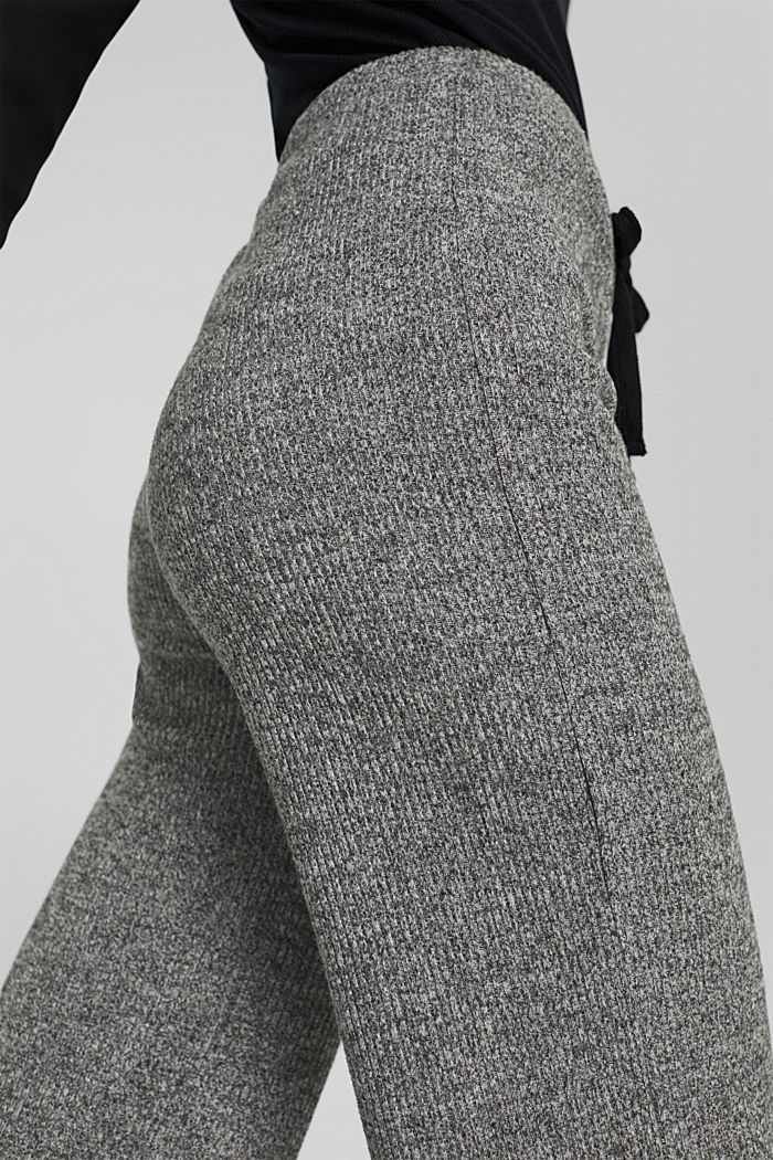 Pants knitted, ANTHRACITE, detail image number 5
