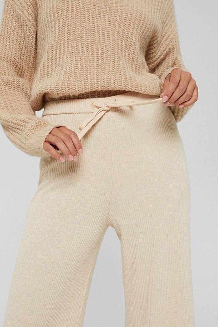 Pants knitted, BEIGE, detail image number 2