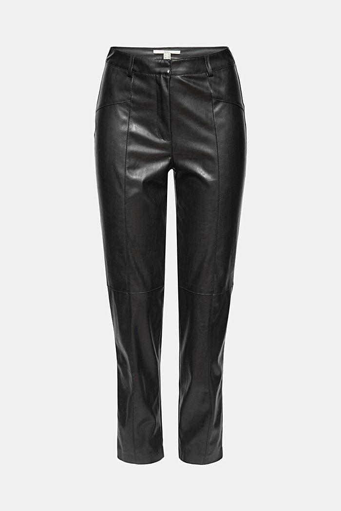 Stumpede bukser i læderlook