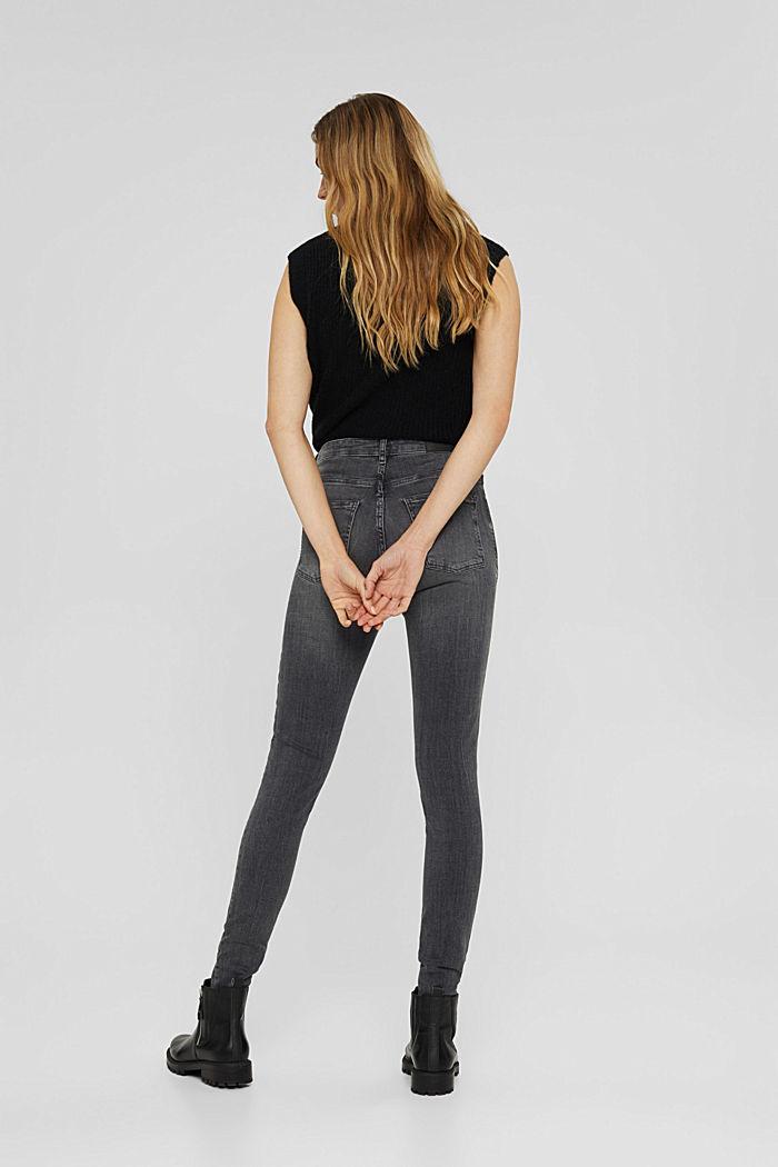 Jeans met used details en superstretch, GREY MEDIUM WASHED, detail image number 3
