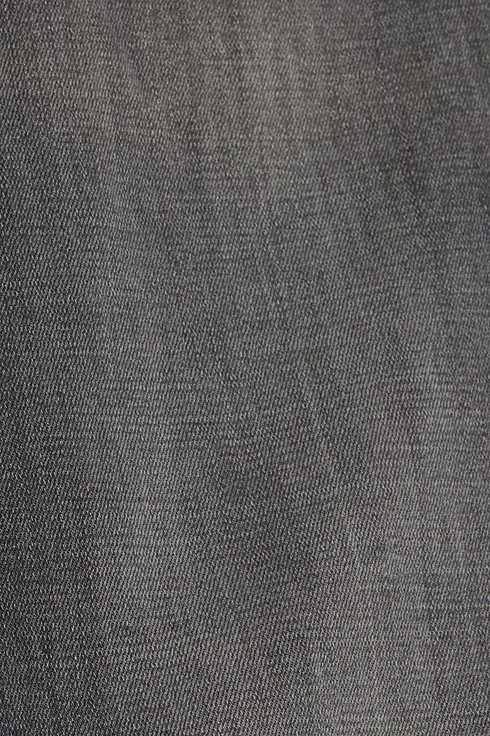 Jeans met used details en superstretch, GREY MEDIUM WASHED, detail image number 4