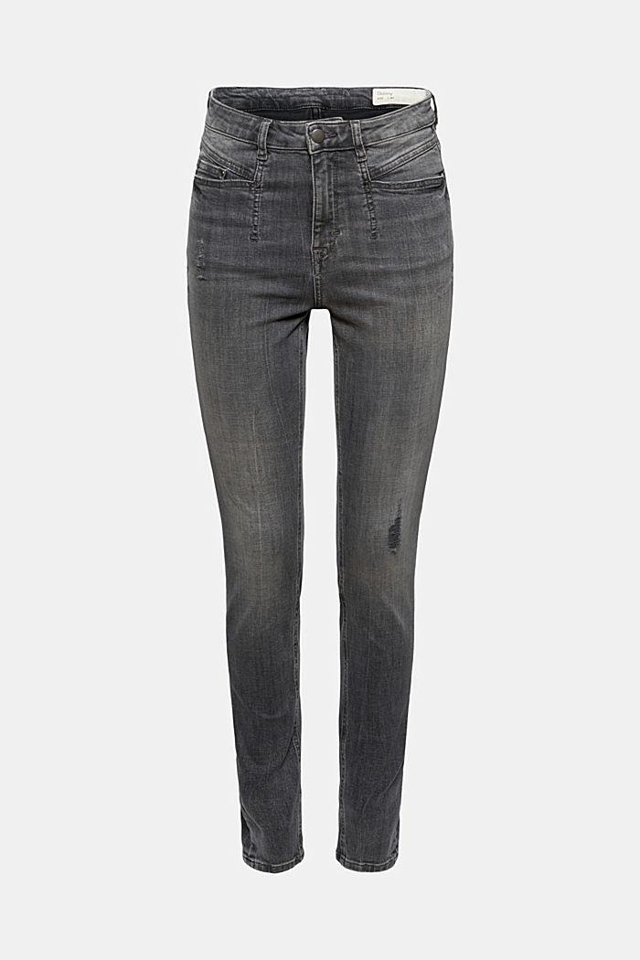 Jeans mit Used-Details und Superstretch