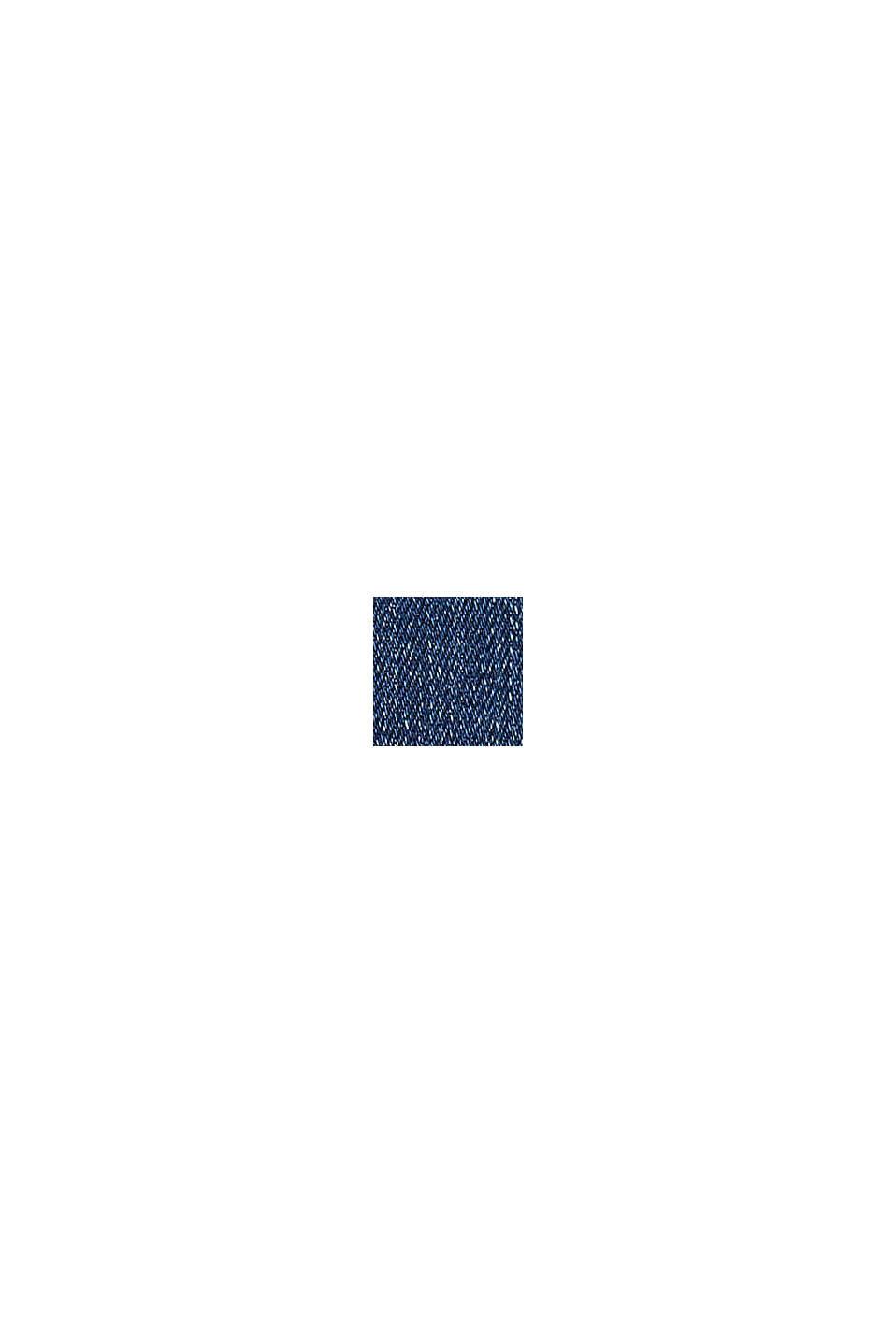 Vajaapituiset farkut halkiollisilla lahkeensuilla, BLUE DARK WASHED, swatch