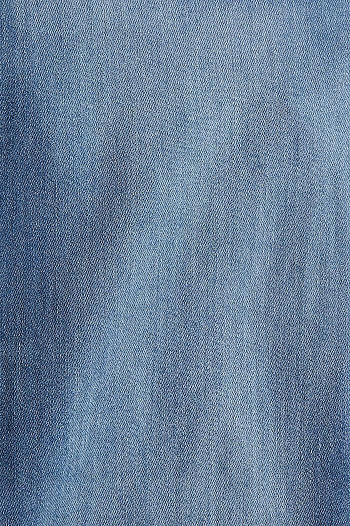 Cropped stretchjeans met splitjes in de zoom, BLUE MEDIUM WASHED, detail image number 4